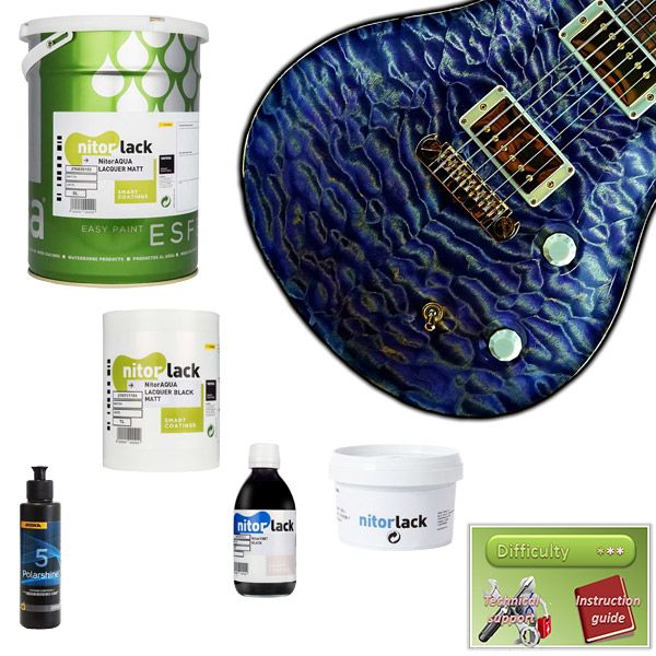 Waterbased Finish Kit, Natural and Dye